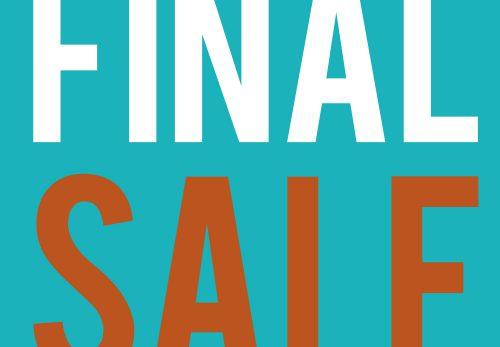 【全店舗】FINAL SALE開催のお知らせ – MORE10%OFF –